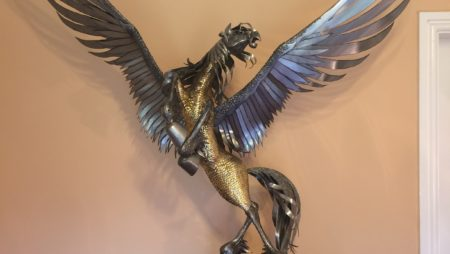 Pegasus Steel Winged Stallion by Luke Kite